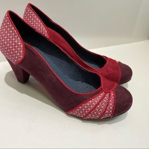 Ruby shoo swing style heels red